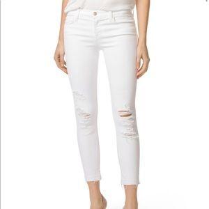 J Brand Low Rise Crop Skinny Jeans in Demented 23